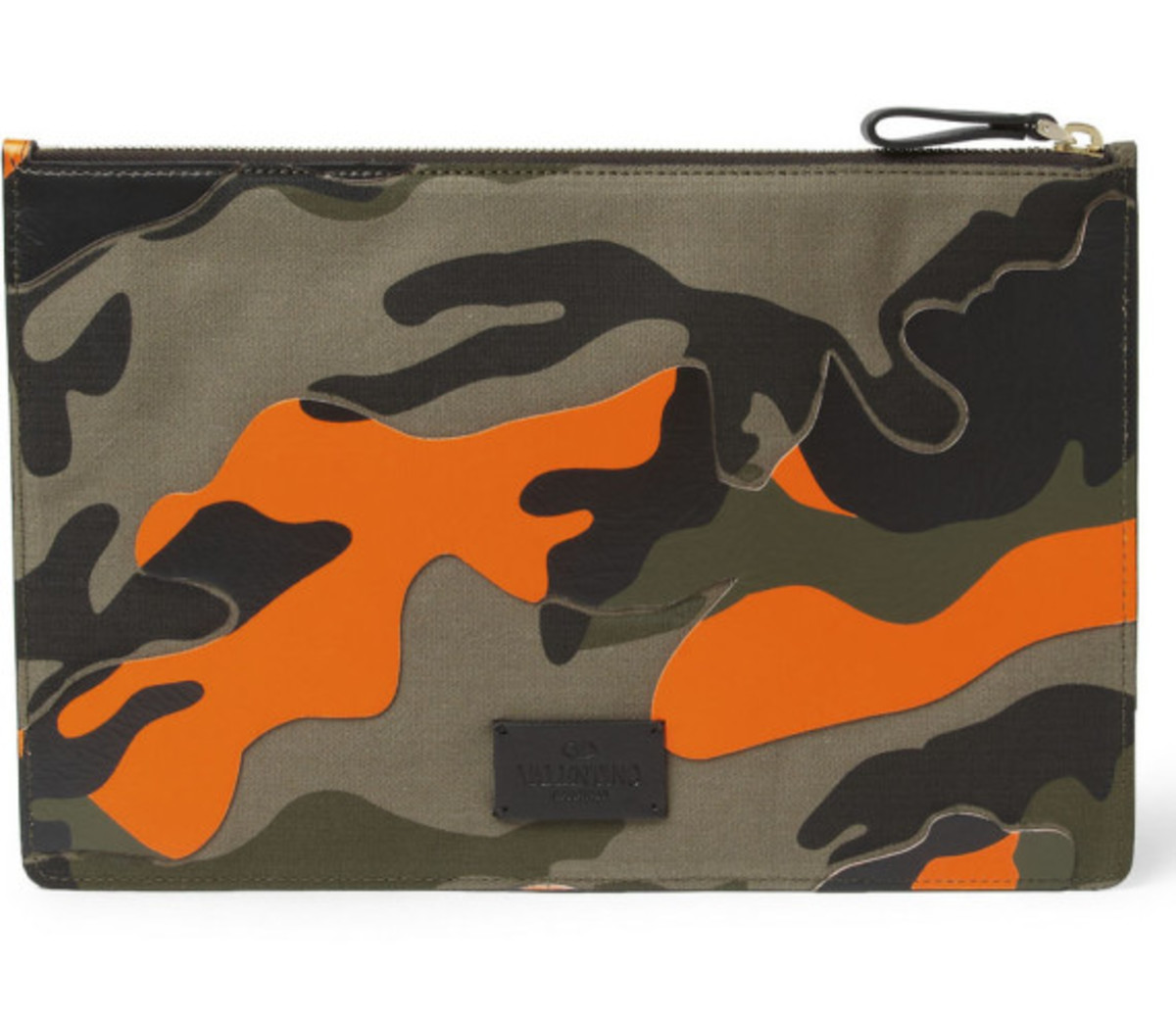 Valentino – Camouflage-Print Leather and Canvas Pouch - 3