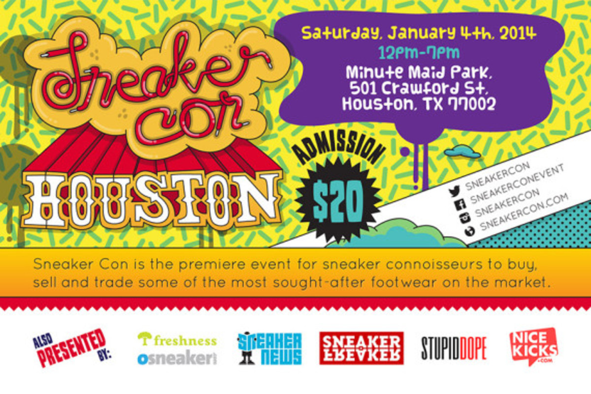 Sneaker Con Houston - Saturday, January 4th, 2014 - 2
