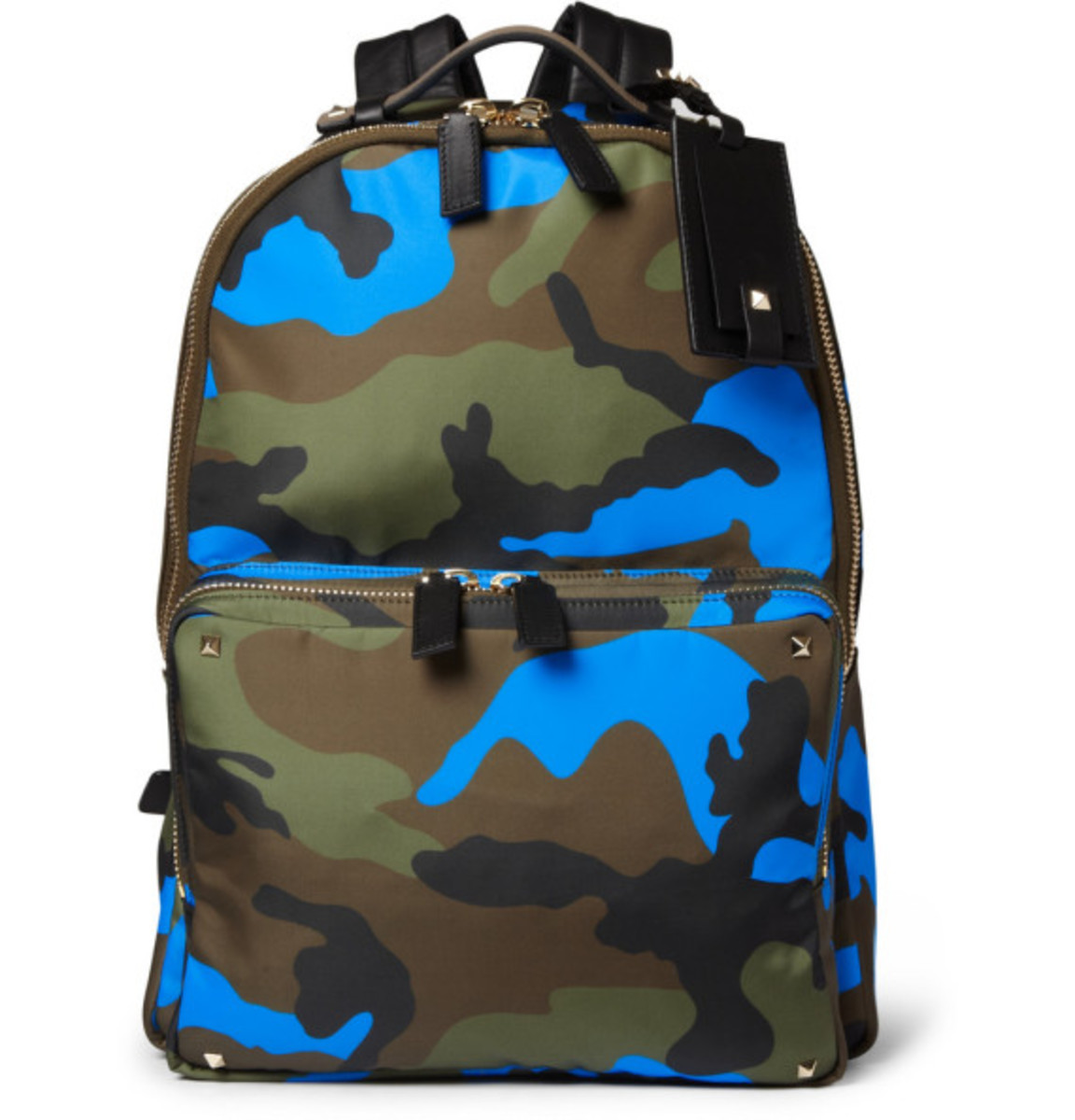 Valentino – Camouflage-Print Leather and Canvas Backpack - 1
