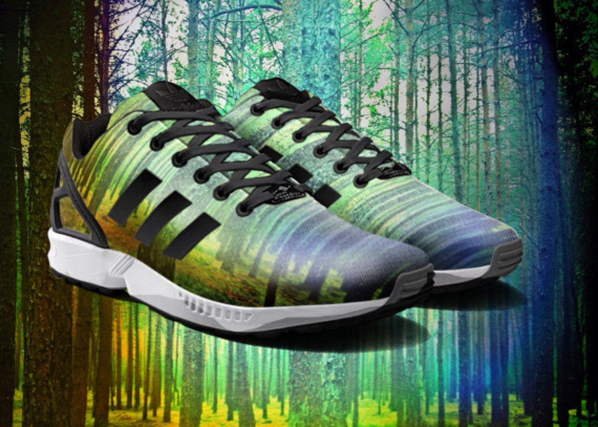 adidas ZX Flux To Become mi Adidas Design Option with Photorealistic Print - 9
