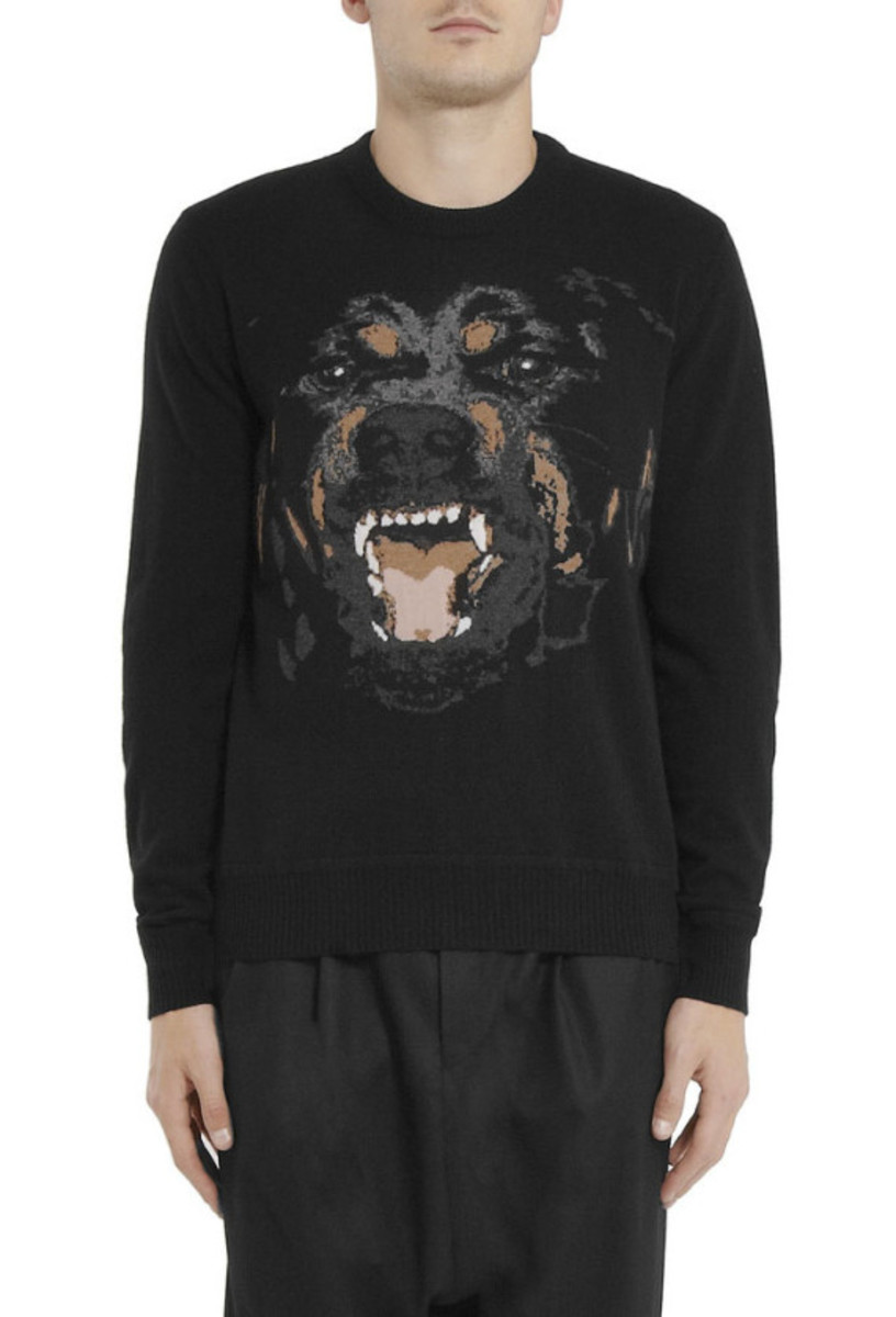 GIVENCHY – Rottweiler Print Cotton Sweatshirt - 2