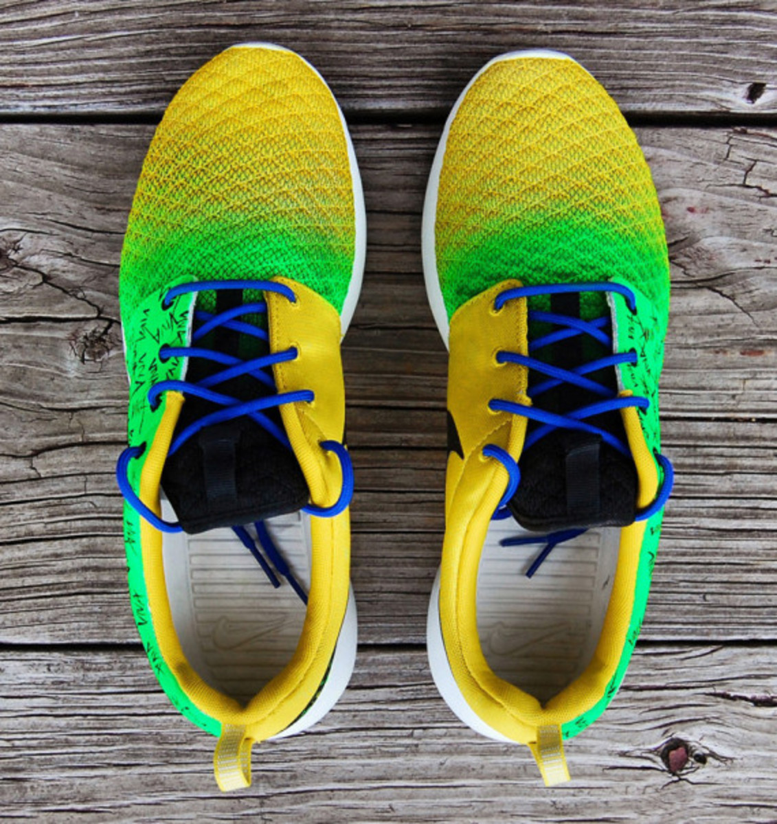 "Nike Roshe Run - ""Viva Brazil"" Customs by Gourmet Kickz - 6"