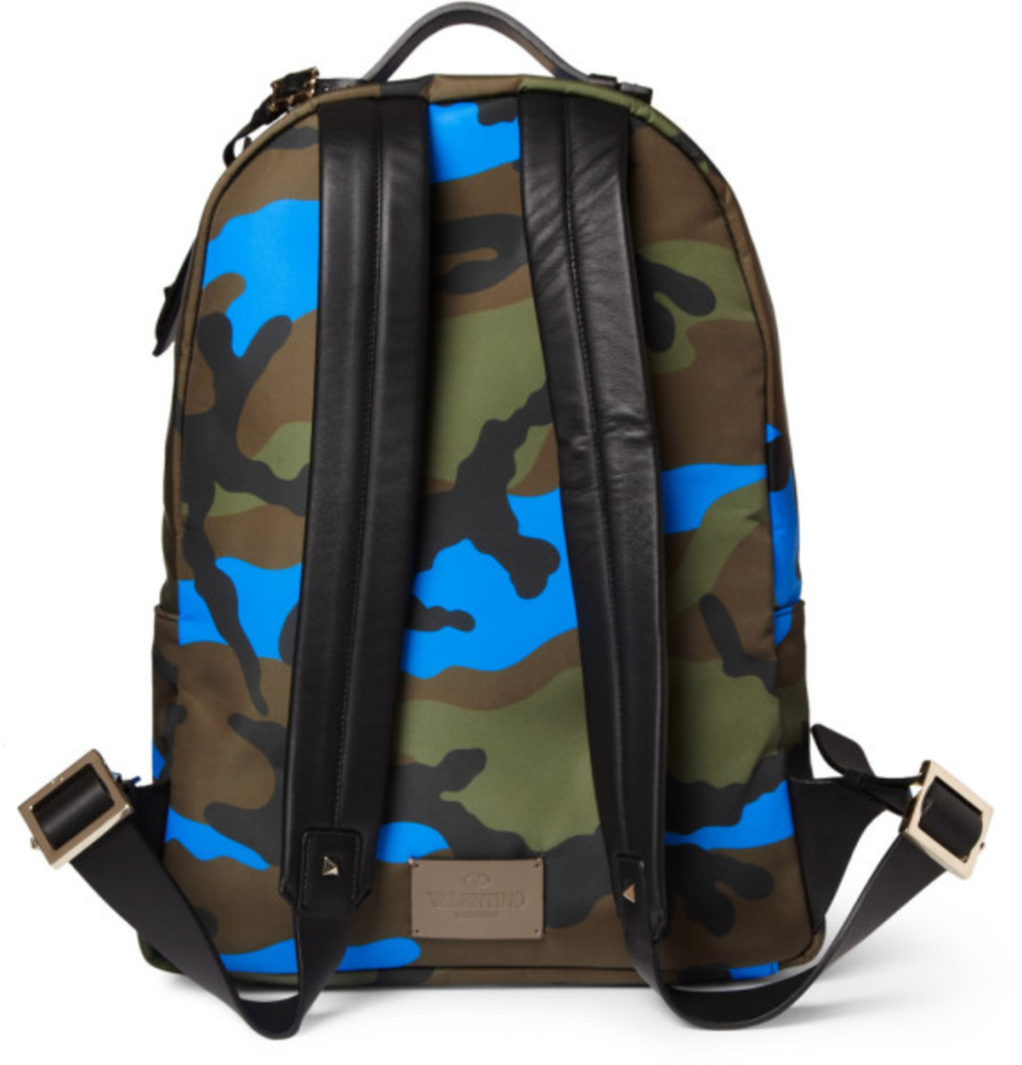 Valentino – Camouflage-Print Leather and Canvas Backpack - 2