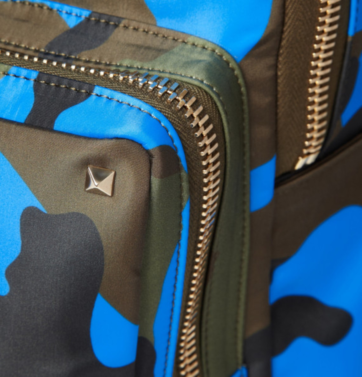 Valentino – Camouflage-Print Leather and Canvas Backpack - 4