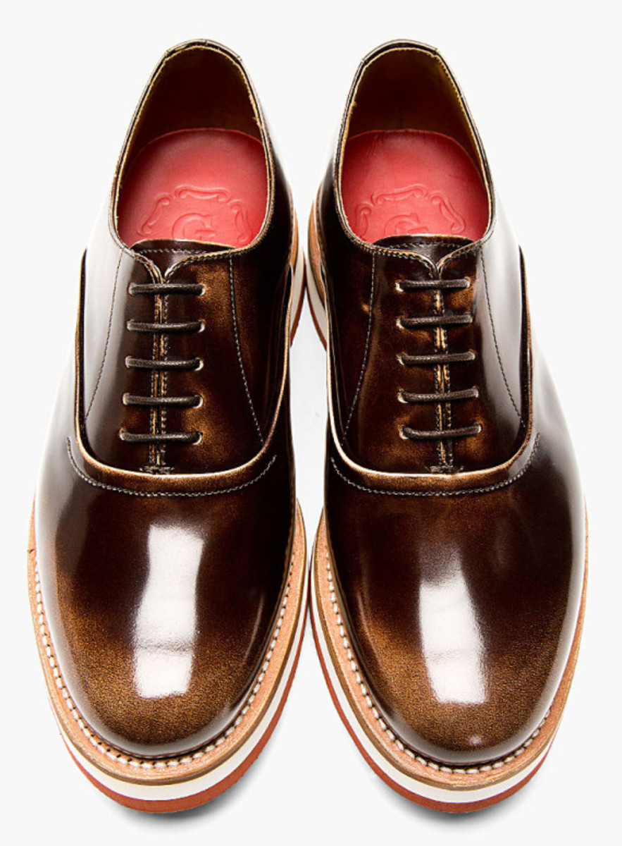 GRENSON - Sammy Oxford Shoe in Buffed Brown Leather - 5