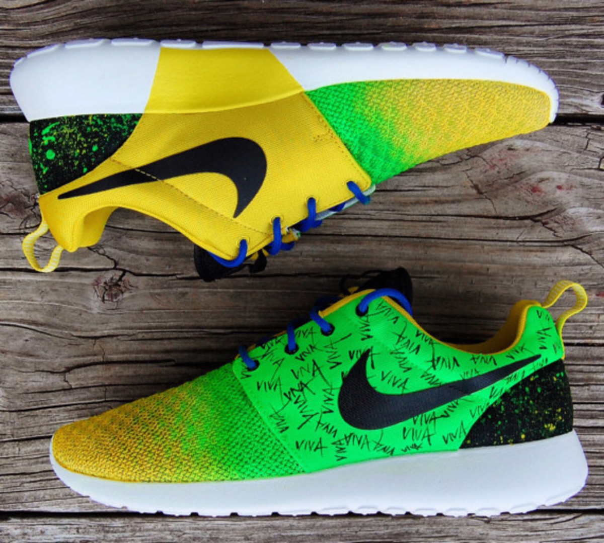 "Nike Roshe Run - ""Viva Brazil"" Customs by Gourmet Kickz - 2"