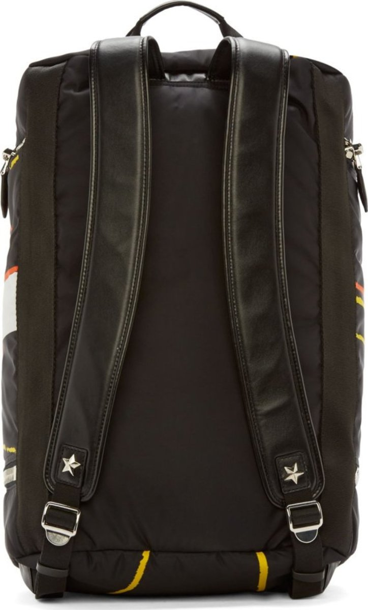 GIVENCHY - Black Convertible Duffle Backpack with Basketball Print - 3