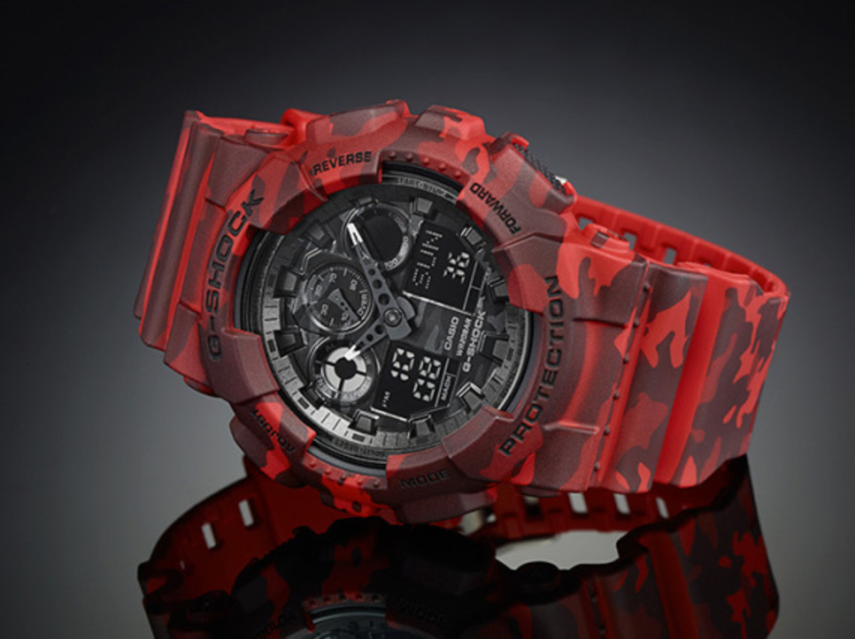 "Casio G-Shock GA-100CM Watch - ""Camouflage Plated Dial"" Series - 3"