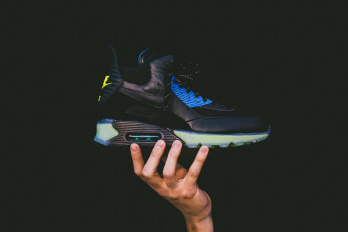 Nike Air Max 90 ICE Sneakerboot - Black/Photo Blue | Available Now - 7