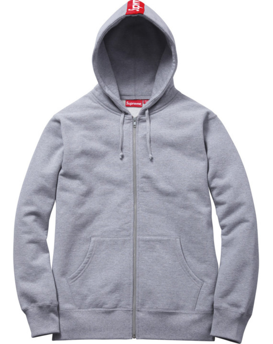 Supreme - Logo Tape Zip Up Hoody | Available Now - 1