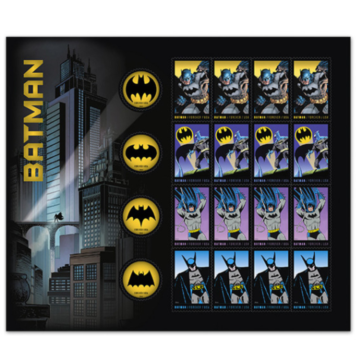 "DC Comics x US Postal Service - Limited Edition ""Batman"" Stamps - 2"