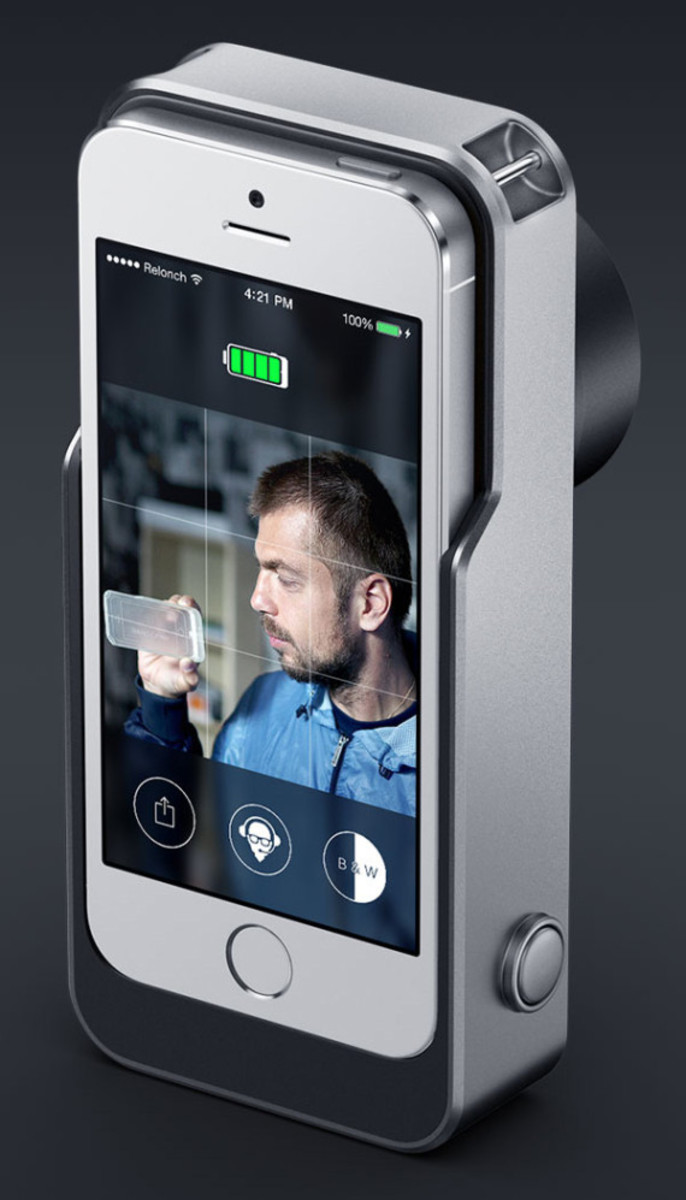 Relonch - Apple iPhone 5/6 Camera Attachment That Creates Print Quality Photos - 9
