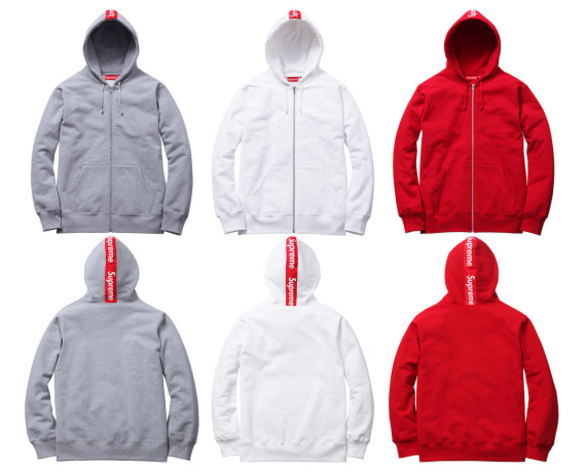 Supreme - Logo Tape Zip Up Hoody | Available Now - 0