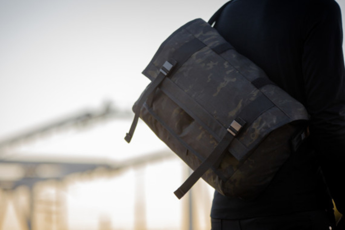 MISSION WORKSHOP - Black Camo Series Limited Edition Messenger Bag - 12