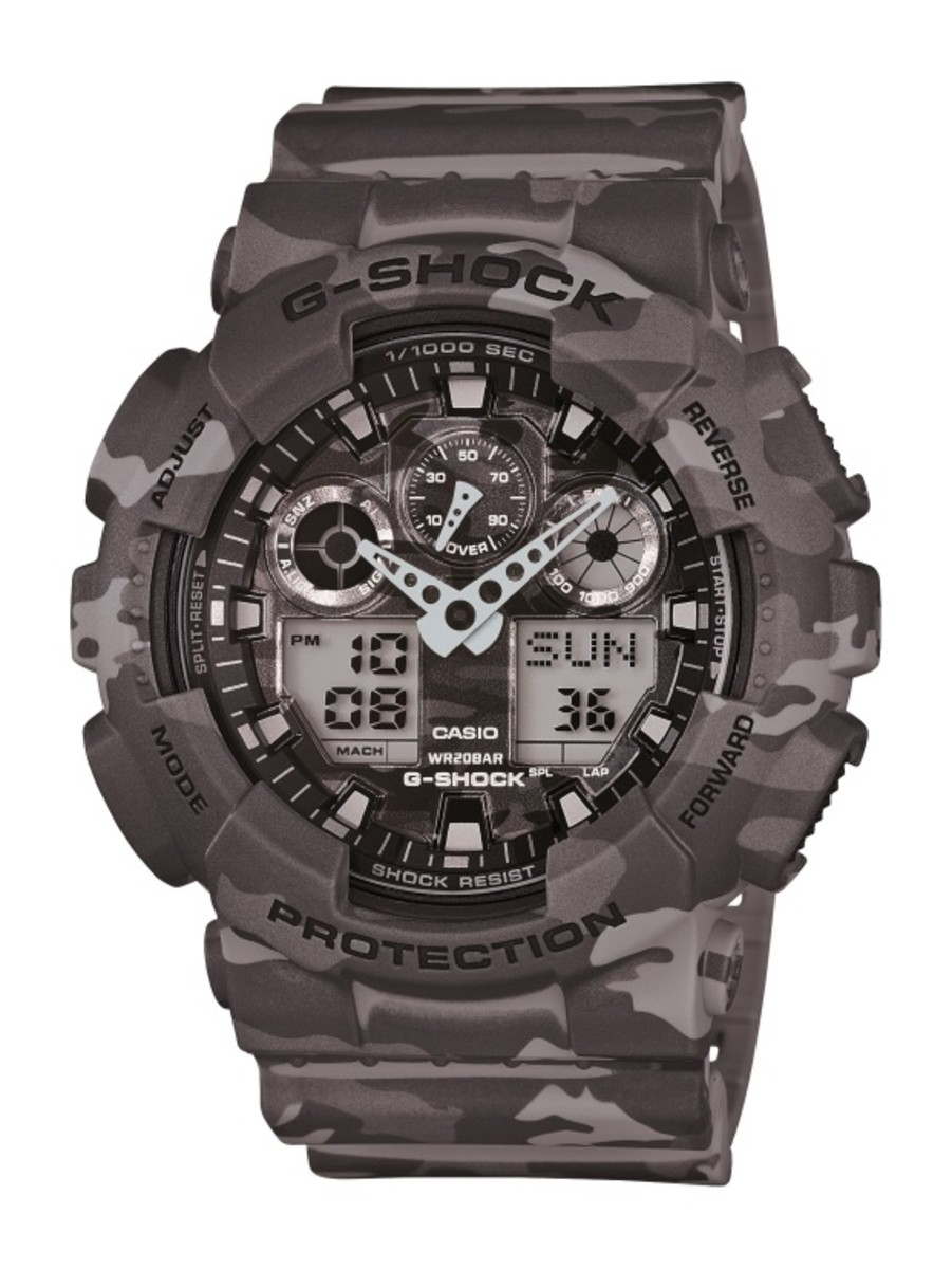 "Casio G-Shock GA-100CM Watch - ""Camouflage Plated Dial"" Series - 17"