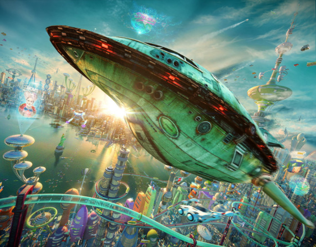FUTURAMA Opening Sequence in 3D Animation - Rendered by Alexey Zakharov - 0
