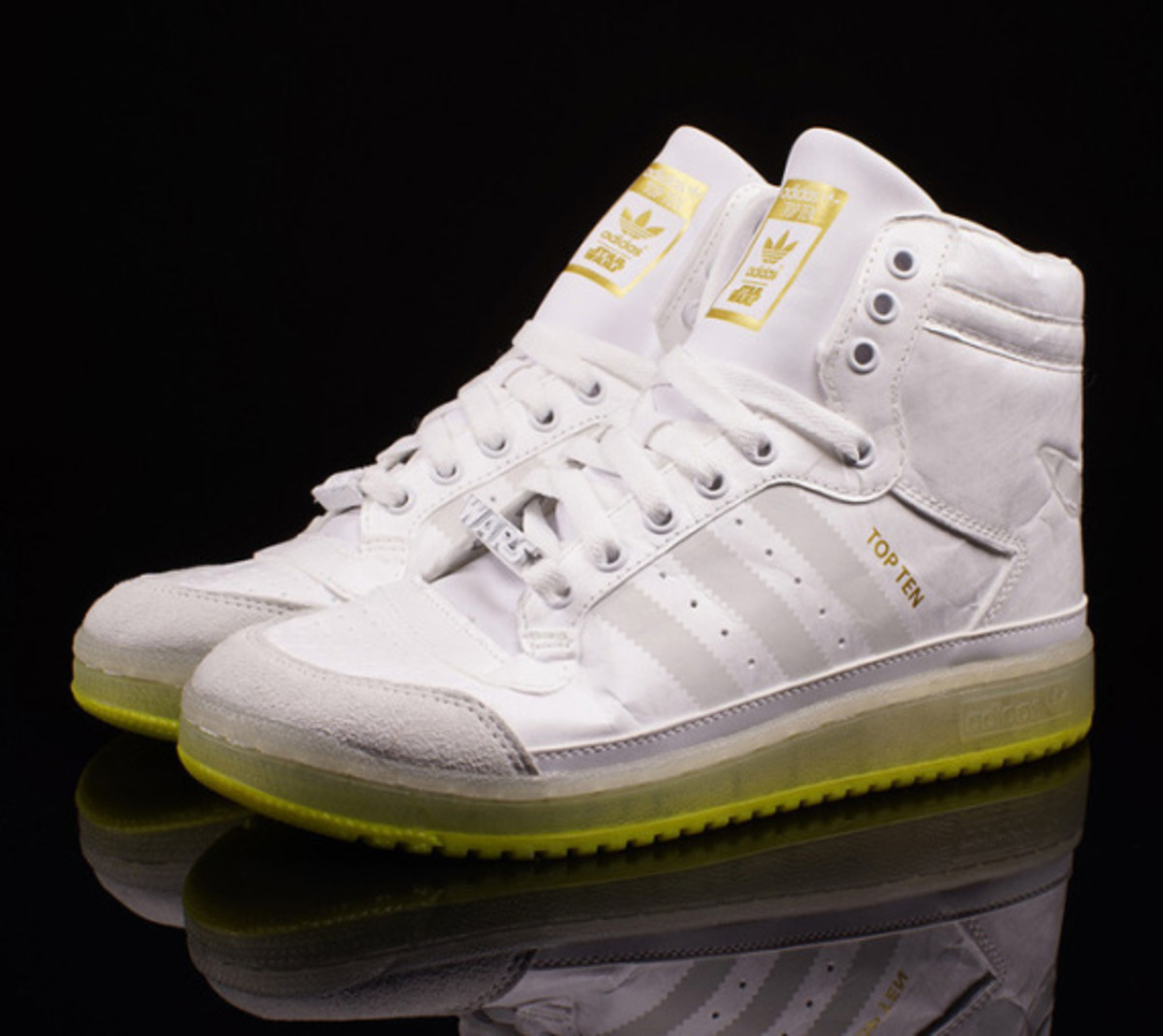 "Star Wars x adidas Originals Top Ten Hi Kids - ""Yoda"" Glow-in-the-Dark - 0"