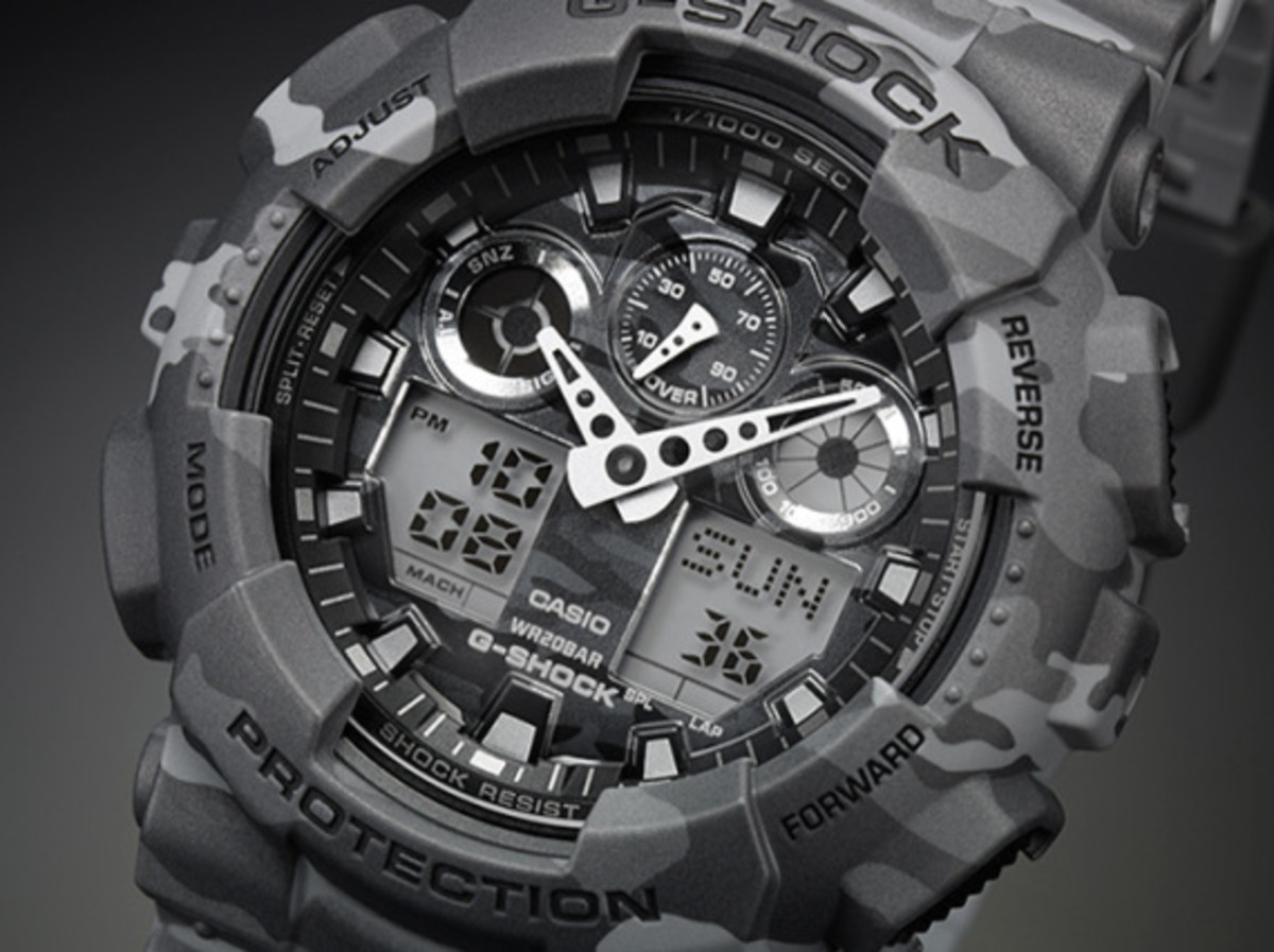 "Casio G-Shock GA-100CM Watch - ""Camouflage Plated Dial"" Series - 0"