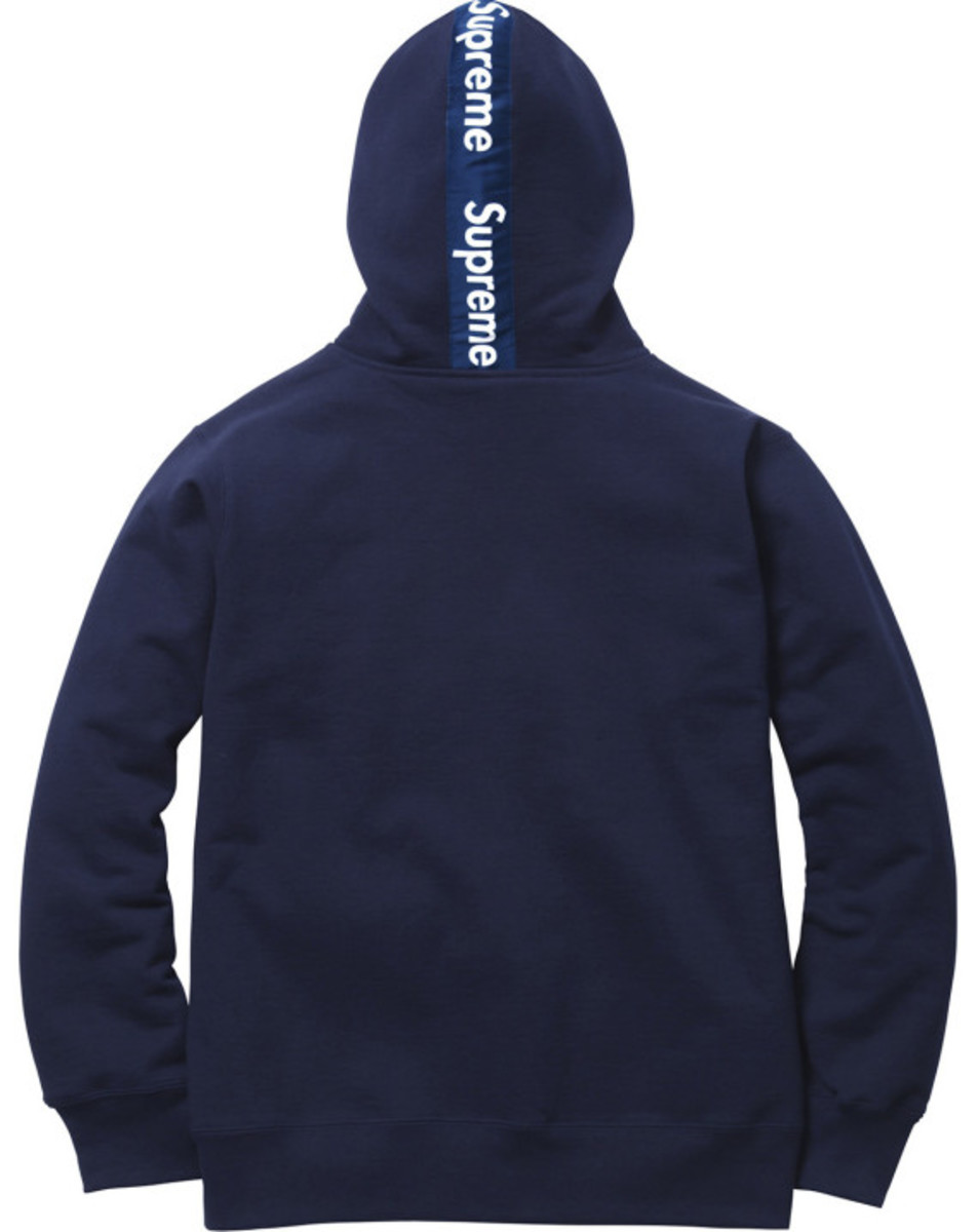 Supreme - Logo Tape Zip Up Hoody | Available Now - 4