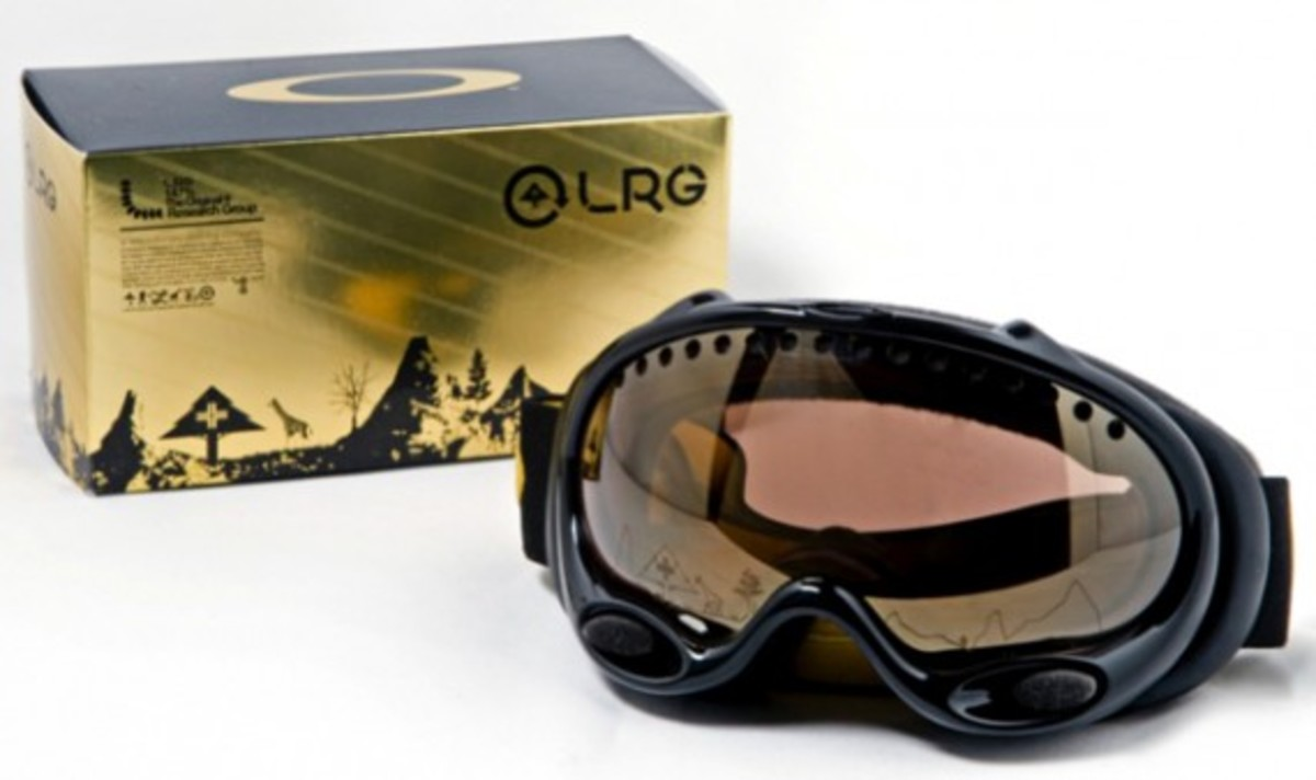 LRG x Oakley - A Frame Goggles (Black with Gold Iridium)