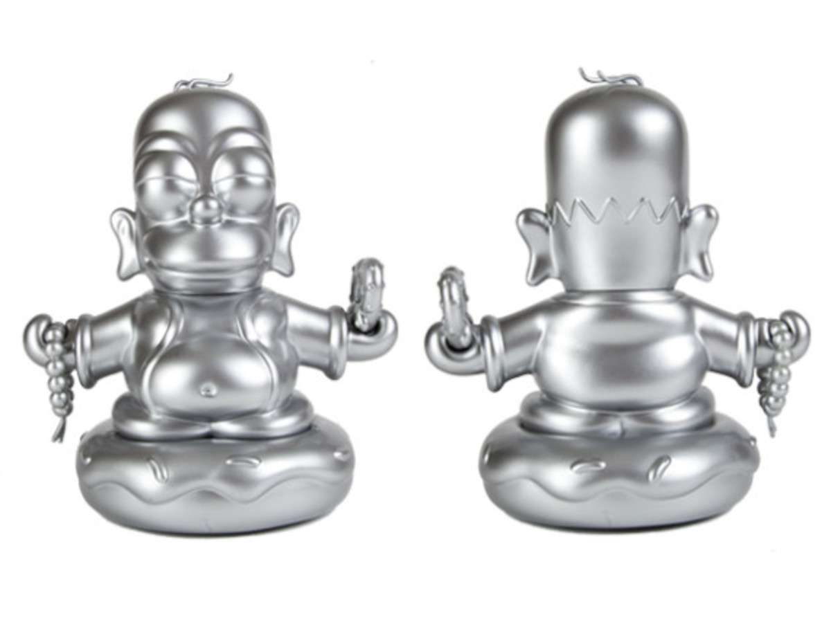 Kidrobot x The Simpsons Homer Buddha - Metallic Silver | Available Now - 3