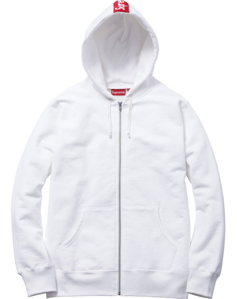 Supreme - Logo Tape Zip Up Hoody | Available Now - 7
