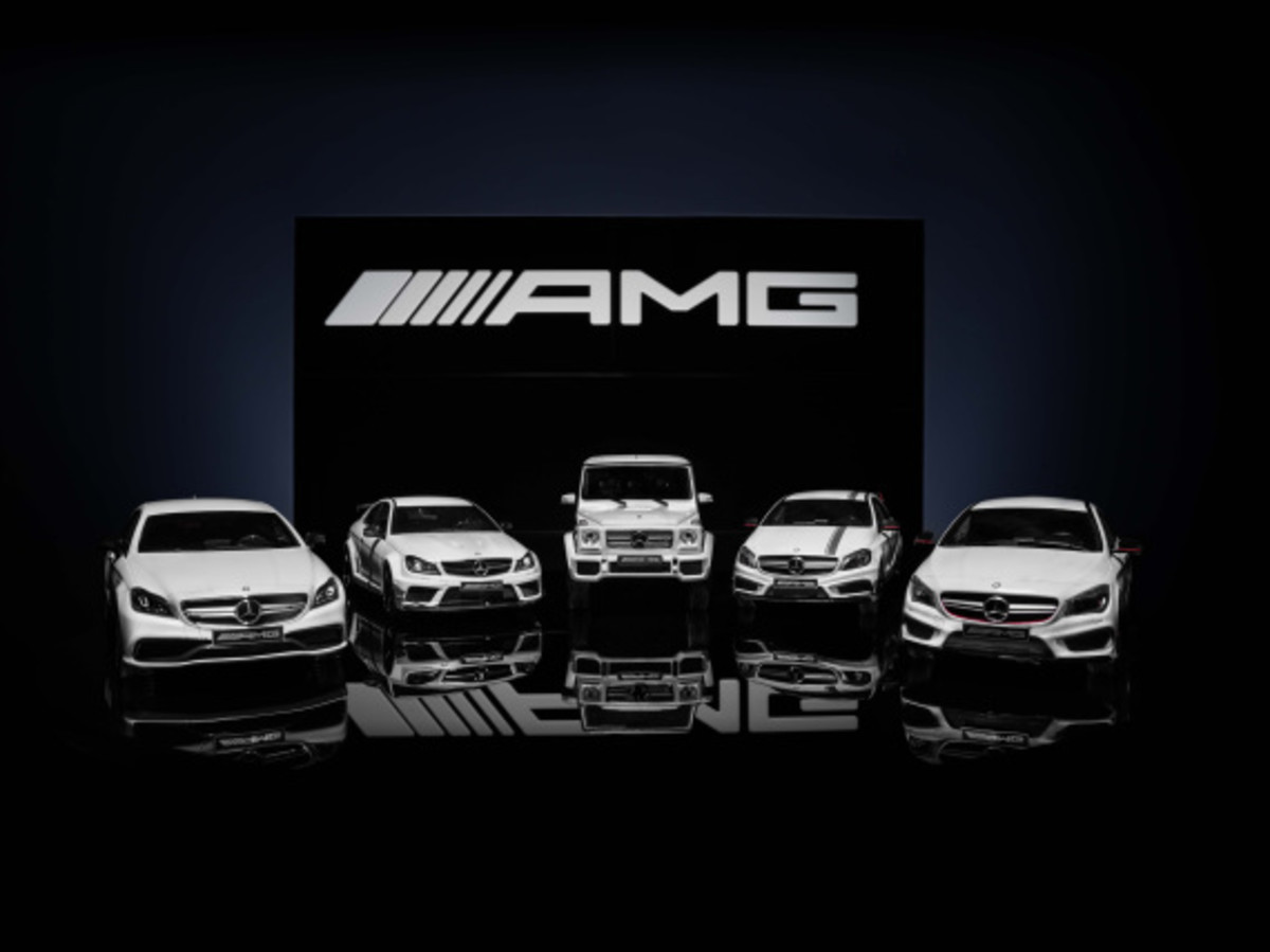 "Mercedes AMG - Limited Edition ""White Series"" Scale Model Cars - 16"