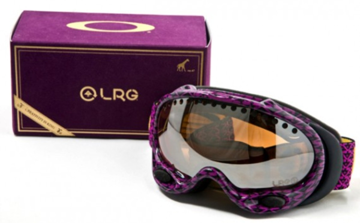 LRG x Oakley - A Frame Goggles (Purple with Black Iridium)