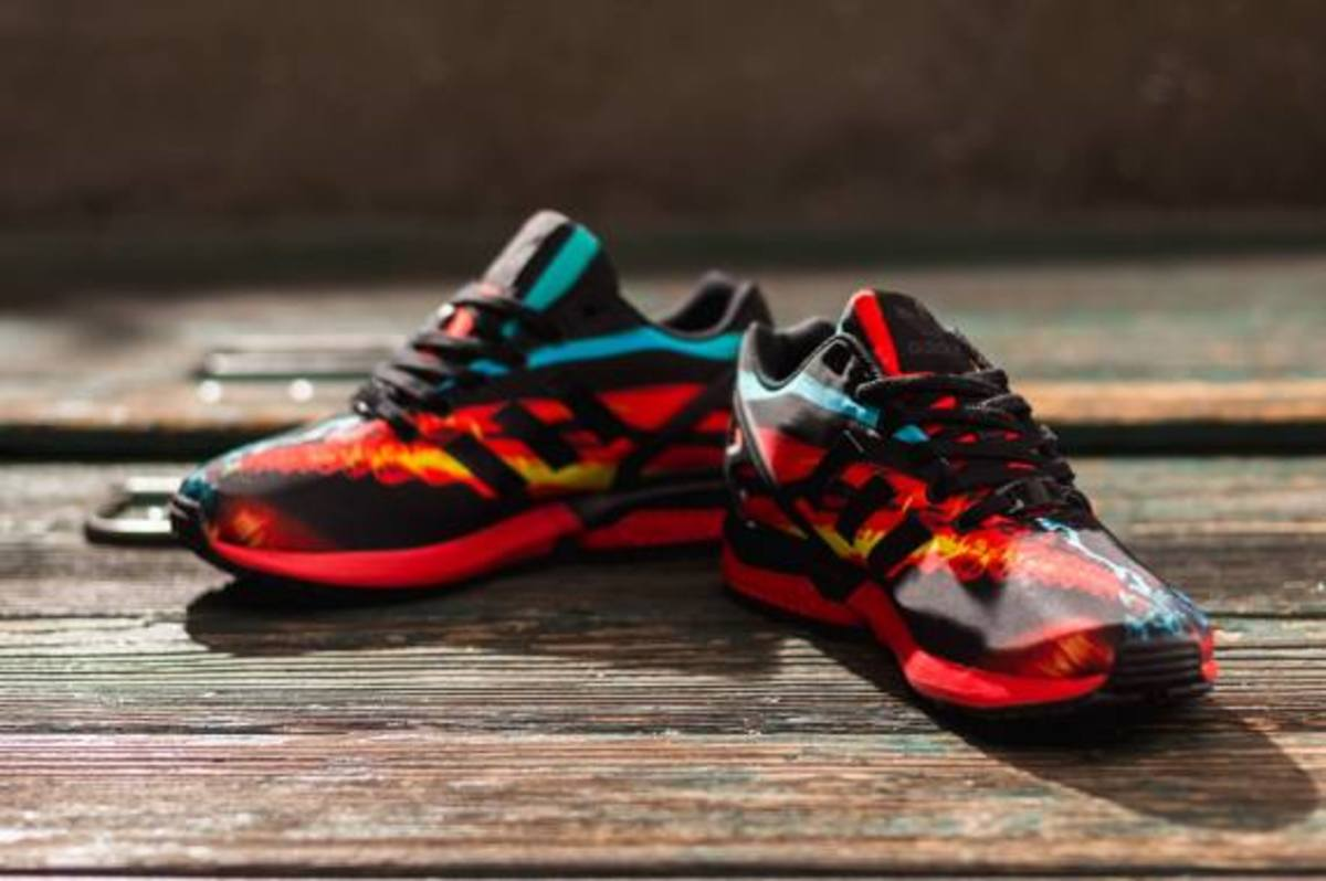 adidas ZX Flux - Red/Core Black/Carbon - 7