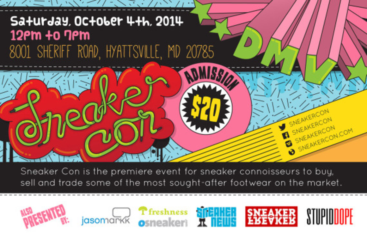 Sneaker Con Washington DC/DMV – Saturday, October 4th, 2014 - 2