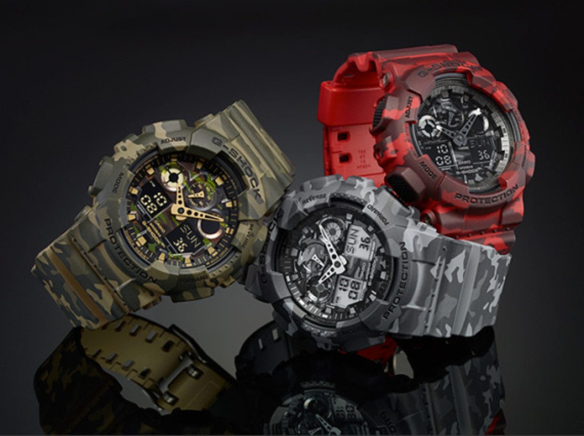 "Casio G-Shock GA-100CM Watch - ""Camouflage Plated Dial"" Series - 2"