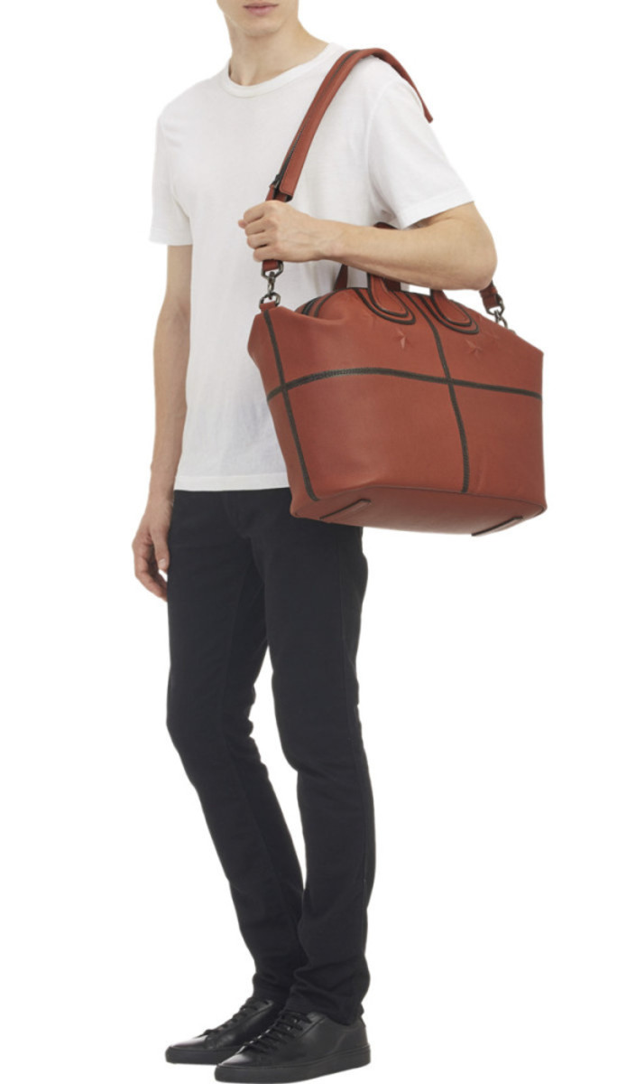 GIVENCHY - Star-Studded Nightingale Tote in Basketball Leather - 5