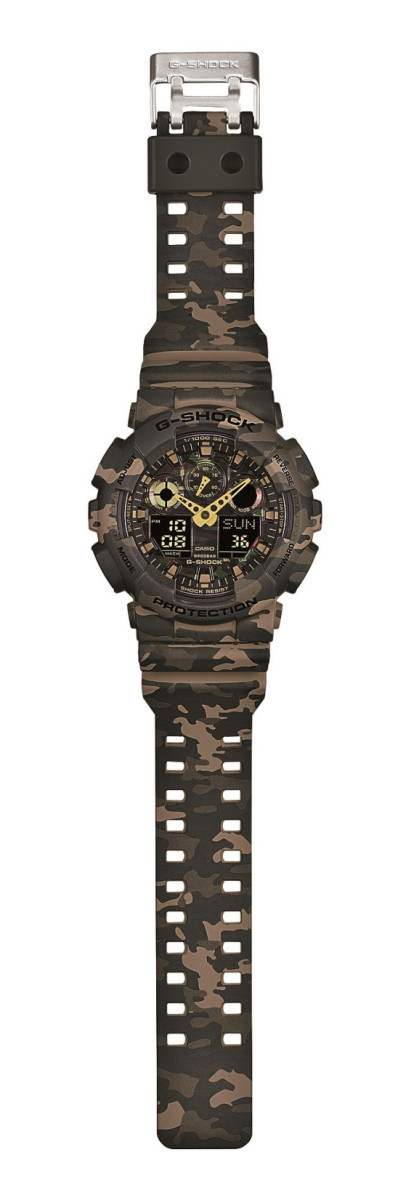 "Casio G-Shock GA-100CM Watch - ""Camouflage Plated Dial"" Series - 11"