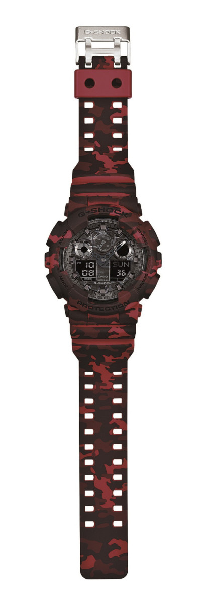 "Casio G-Shock GA-100CM Watch - ""Camouflage Plated Dial"" Series - 6"