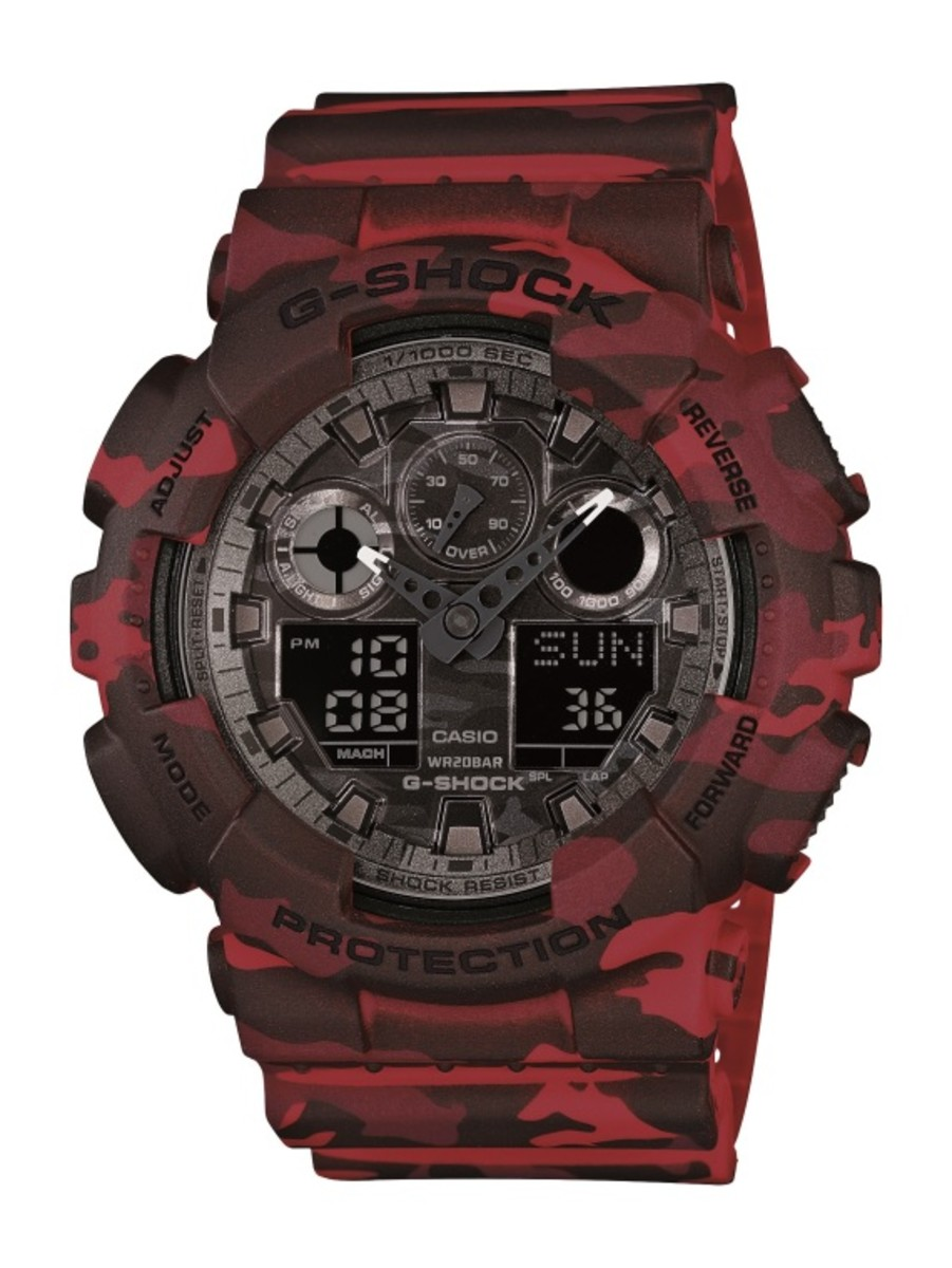 "Casio G-Shock GA-100CM Watch - ""Camouflage Plated Dial"" Series - 7"
