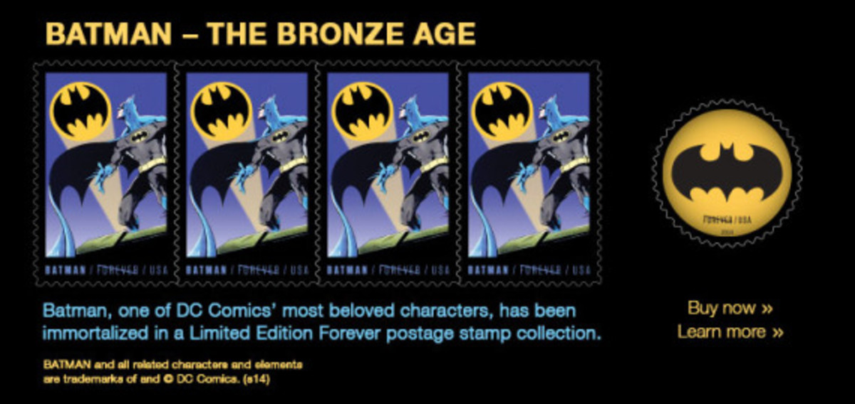 "DC Comics x US Postal Service - Limited Edition ""Batman"" Stamps - 7"