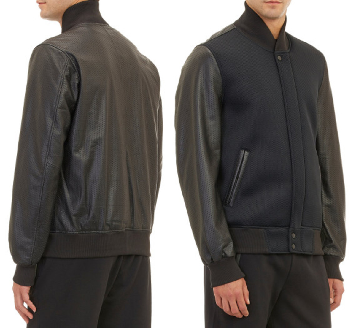 Jordan Brand x Russell Westbrook for Barneys New York - Neoprene & Leather Varsity Jacket - 0