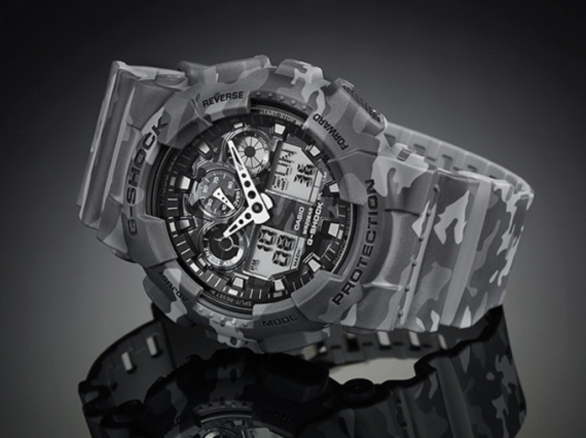 "Casio G-Shock GA-100CM Watch - ""Camouflage Plated Dial"" Series - 13"