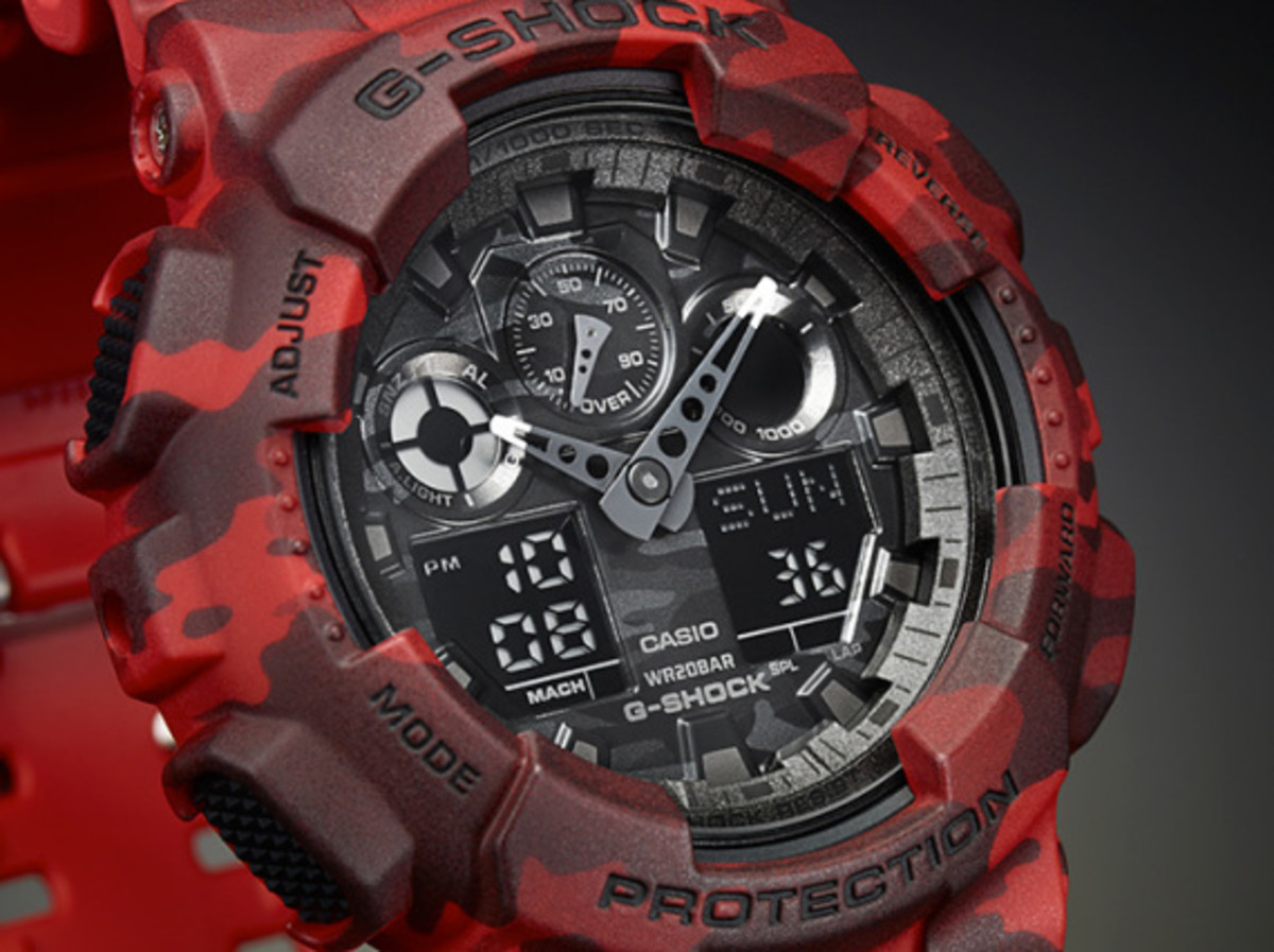 "Casio G-Shock GA-100CM Watch - ""Camouflage Plated Dial"" Series - 5"