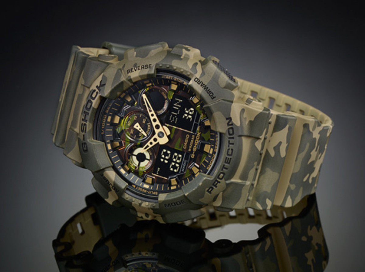 "Casio G-Shock GA-100CM Watch - ""Camouflage Plated Dial"" Series - 8"