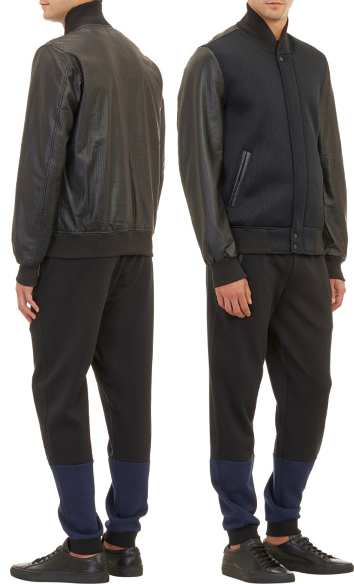 Jordan Brand x Russell Westbrook for Barneys New York - Neoprene & Leather Varsity Jacket - 1