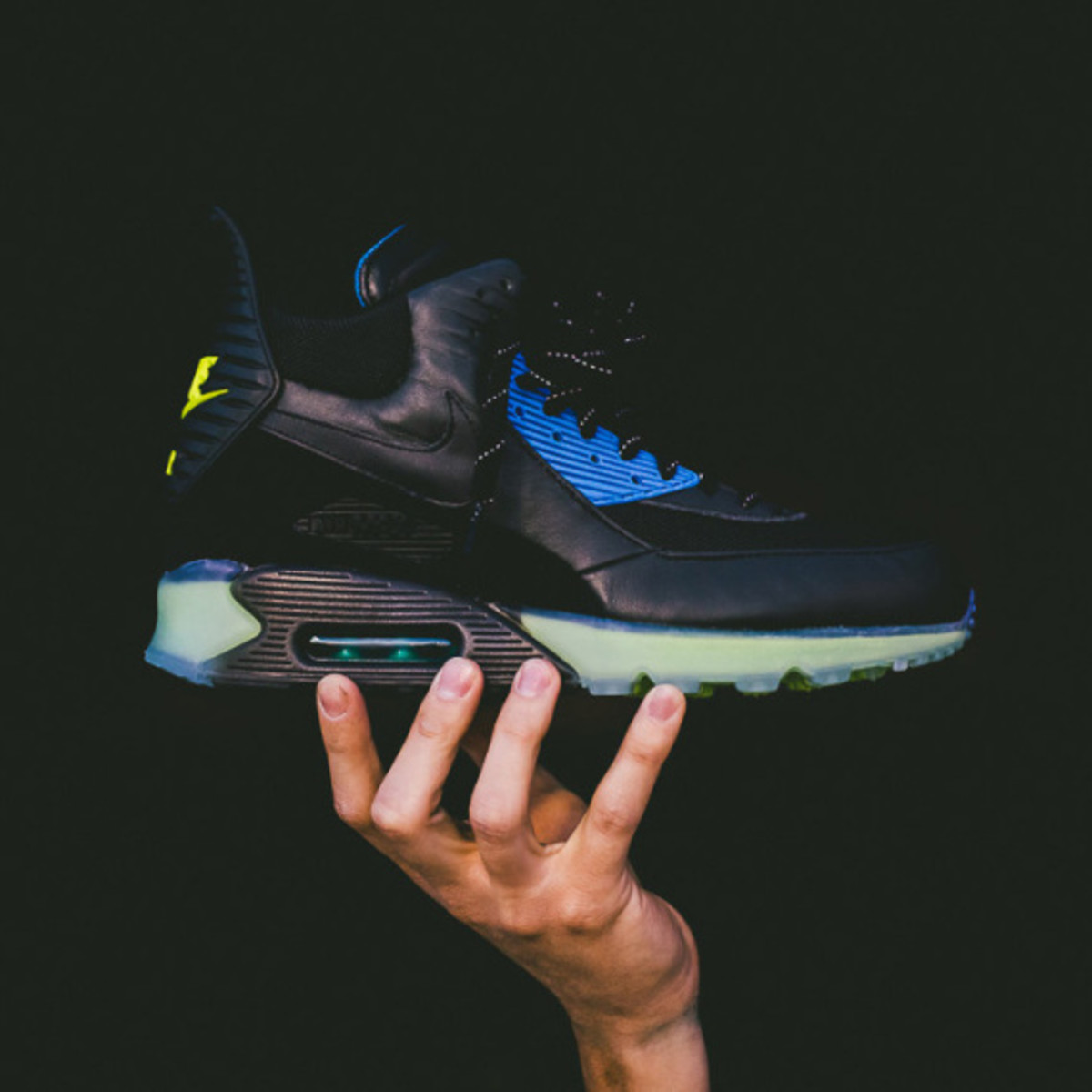 Nike Air Max 90 ICE Sneakerboot - Black/Photo Blue | Available Now - 0