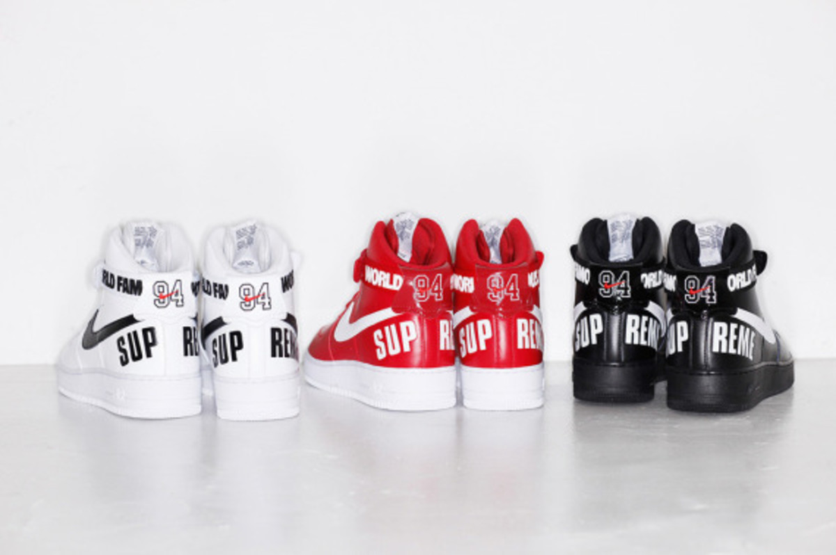 """Supreme x Nike Air Force 1 High - """"20th Anniversary"""" 