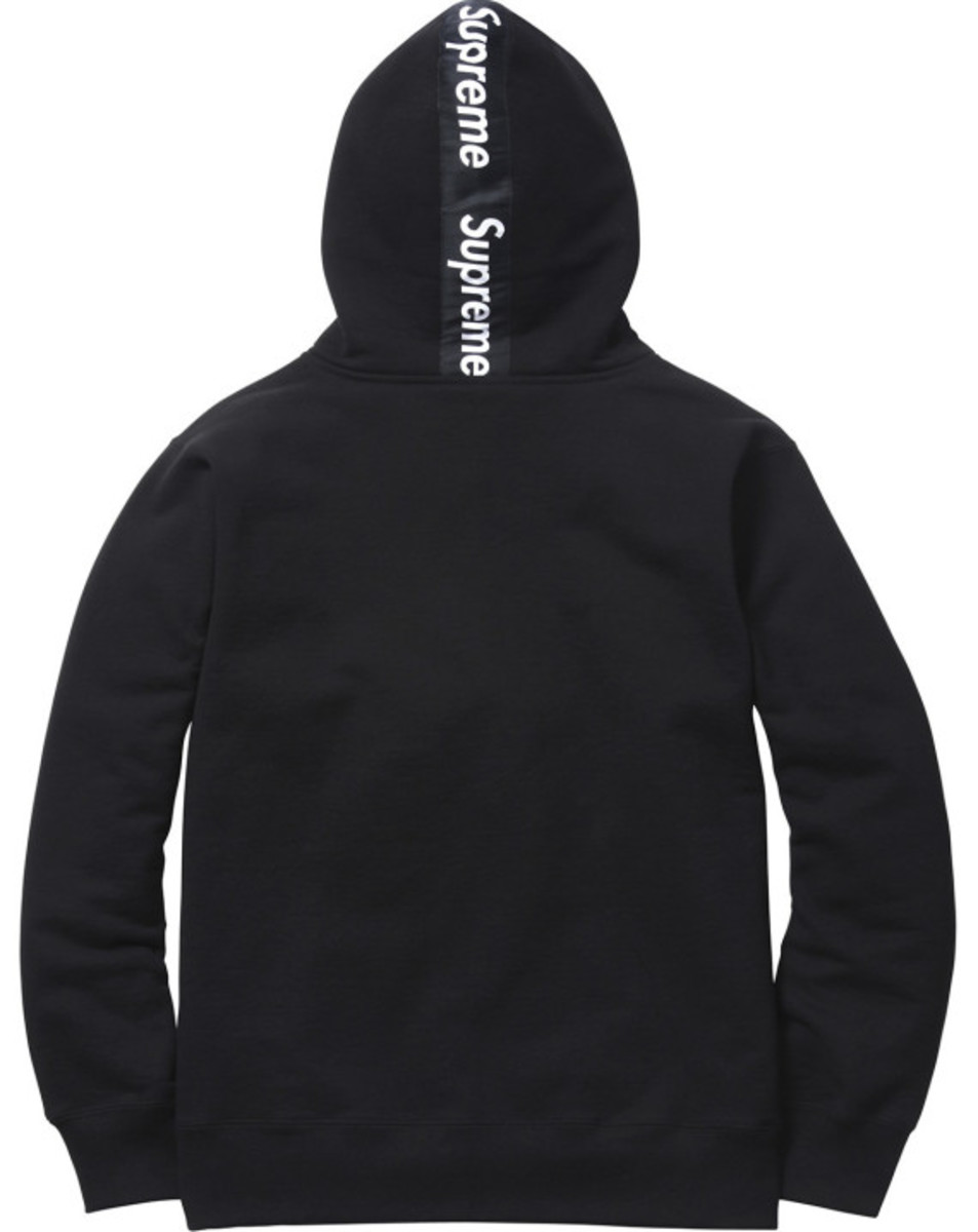 Supreme - Logo Tape Zip Up Hoody | Available Now - 6