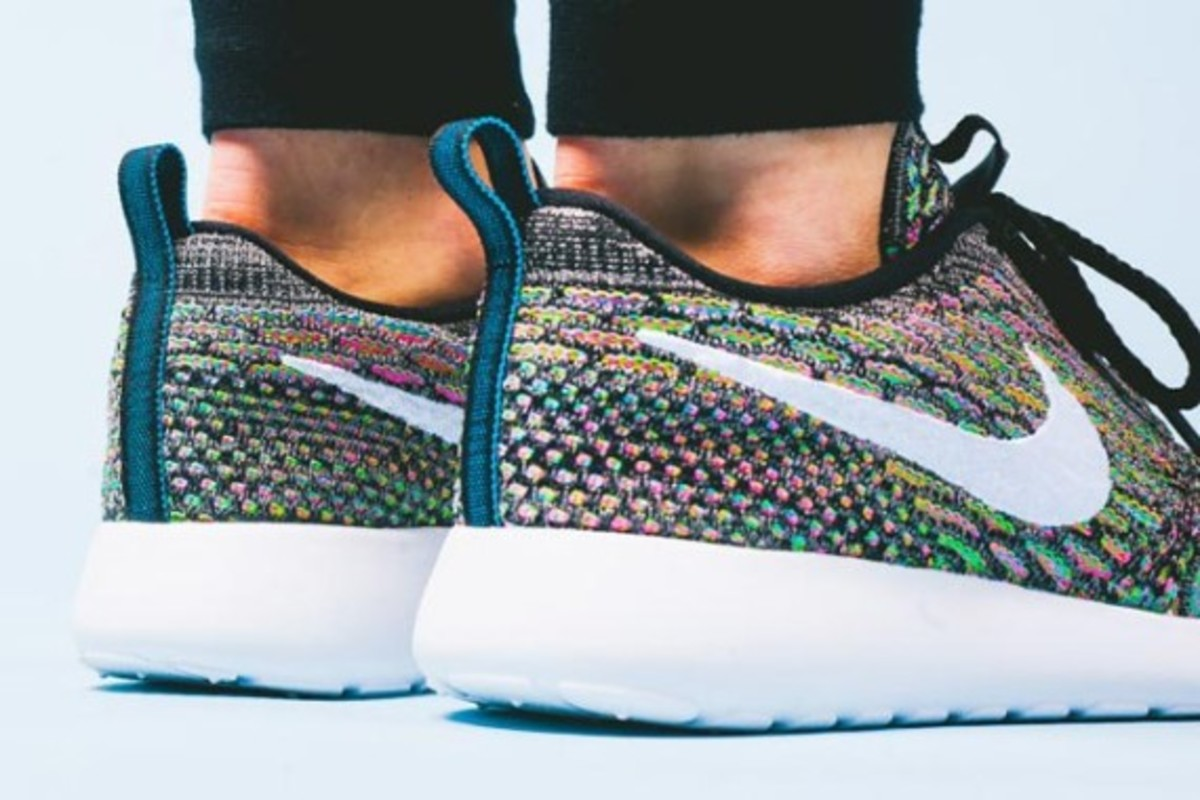 "Nike Women's Flyknit Roshe Run ""Multi Color"" - Now Available - 2"