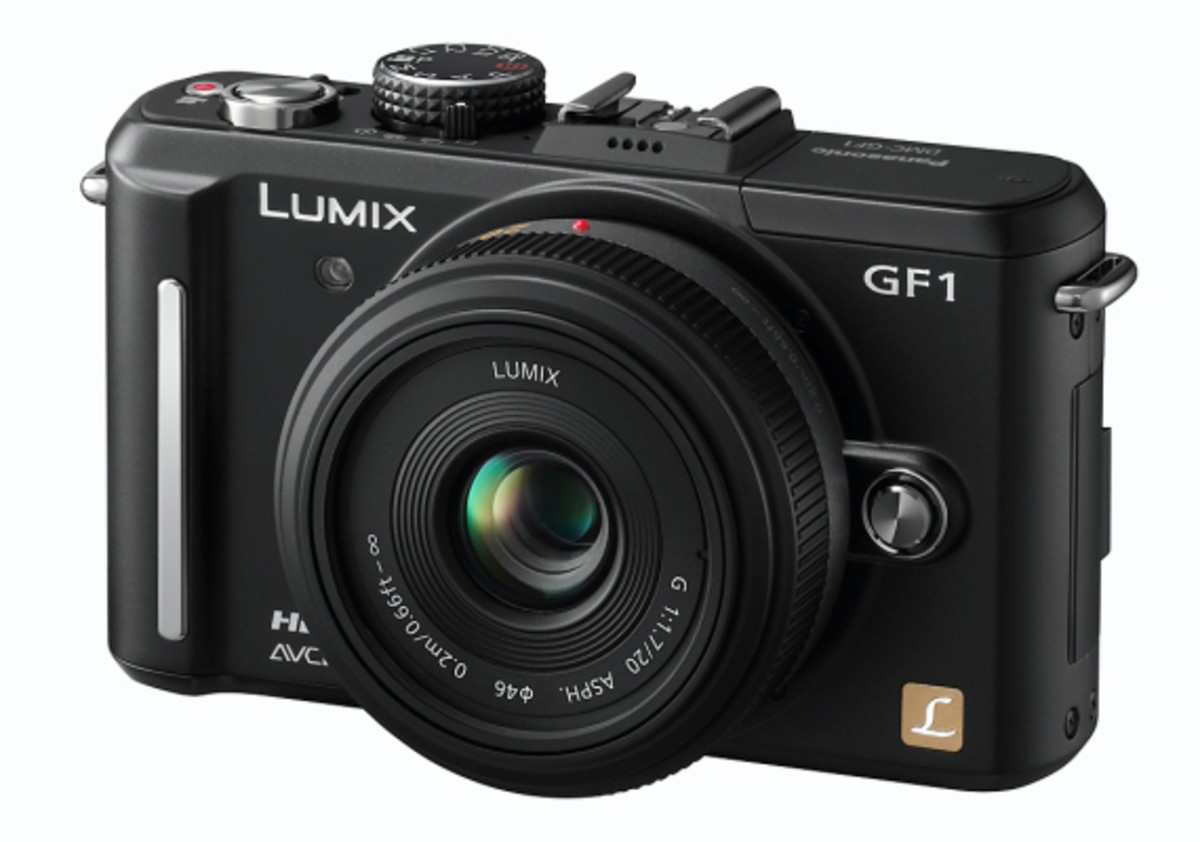 "Panasonic LUMIX DMC-GF1 Black w. 20mm f/1.7 ""Pancake"" Lens"