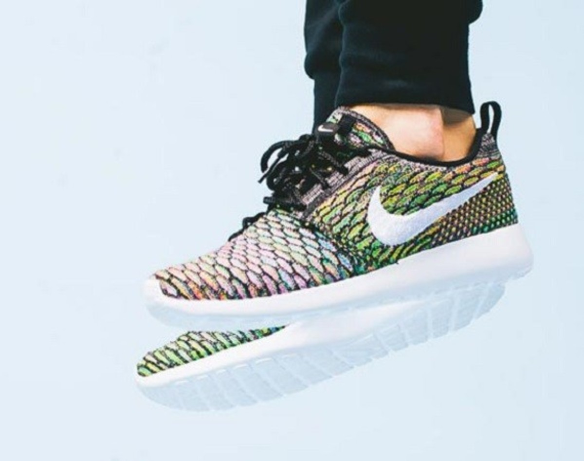 "Nike Women's Flyknit Roshe Run ""Multi Color"" - Now Available - 0"