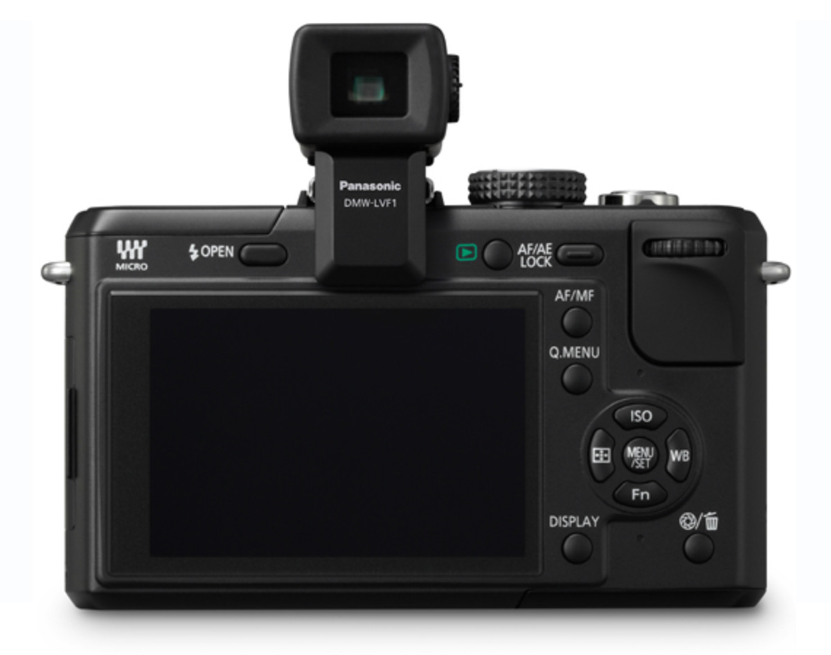 Panasonic LUMIX DMC-GF1 Black w. LVF1 Electronic Viewfinder