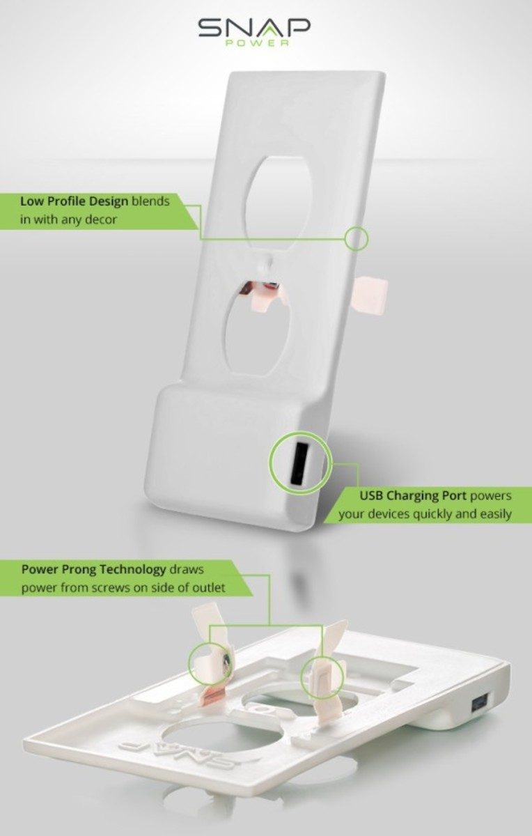 SnapPower -  One Screw Turns Any Outlet into a USB Port - 3