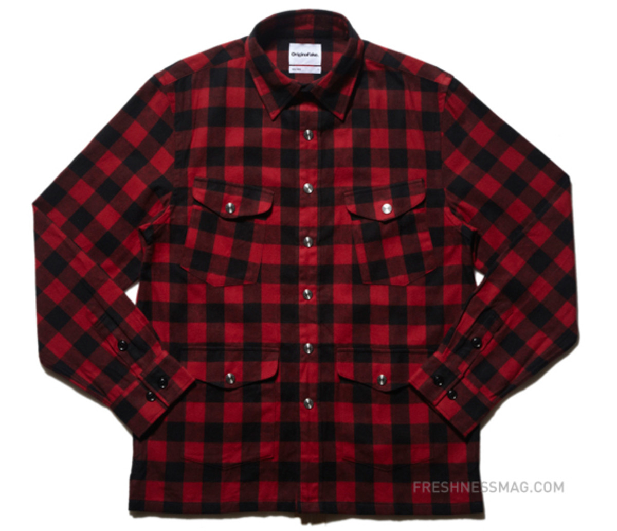 original-fake-block-check-flannel-shirt-red
